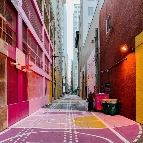 Colourful Alley in Vancouver