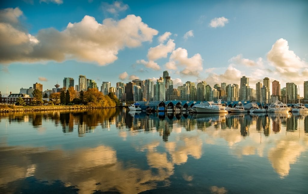 Vancouver Skyline with Boats