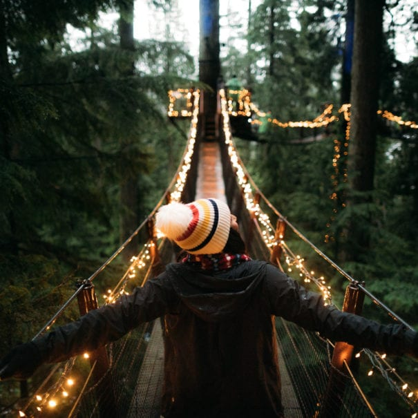 Vancouver Holiday Lights - Capilano Suspension Bridge